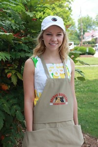 Barbecue volunteer and scholarship beneficiary Katie Barth, Women's College class of 2014
