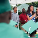 "Ana Lopera speaks to the graduating RISE children during their graduation at the Davis Street Community Center, 850 Davis Street, in Gainesville. ""I wake up everyday and I can't wait to go to work. This has made me fall more in love with teaching and made me realize that this is what I'm called to do,"" said Ana Lopera."