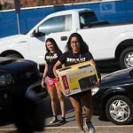 Tyana Luna was one of the Brenau Student athletes lending a hand to help move in this year's first year students on Brenau's Gainesville campus.